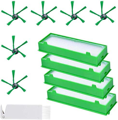 PIÈCES DE RECHANGE - Accessoires de rechange Vorwerk Kobold série VR200 VR300, kit de 10 pièces, pièce de rechange, aspirateur sans fil, brosses latérales, filtre HEPA