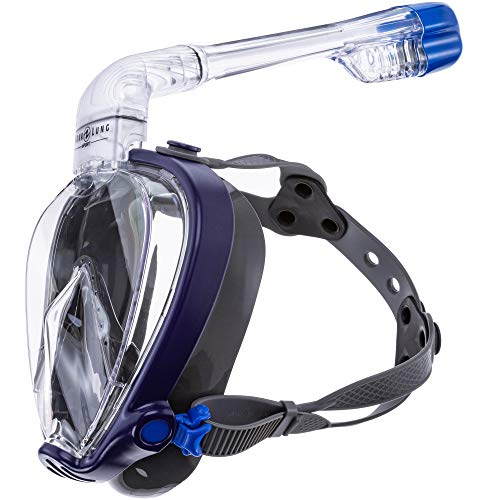 Aqua Lung SMART Snorkel TAUCHMASKE Schnorchelset blau M