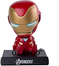 OZANGO B15 Superheroes Ironman Bobblehead with Mobile Holder Stand & Car Dashboard Accessory for Maruti Gypsy King