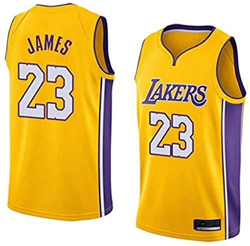 WPYY Herren Basketball Trikot-Lebron James- Los Angeles Lakers # 23 Trikot Basketball Swingman Trikot Sportswear 100% Polyester Anti-Falten-Anti-Pilling (XL)