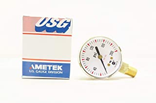 USG 164259ABP Pressure Gauge P610K 2IN 1/4IN NPT 0-200PSI