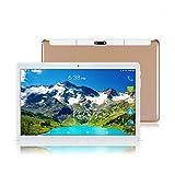 Tablet 10 pulgadas Fire HD 10.1' Tablets PC Oro(4GB RAM+64GB ROM,Android 8.1,Bluetooth,3G Double-sim,GPS,WiFi,OTG)