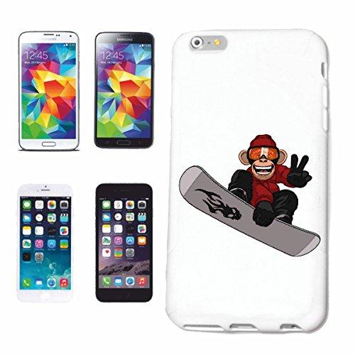 Helene telefoonhoes compatibel met Samsung Galaxy S8 AFFE bij snowboarden chimpanse snowboard snowboarders snowboarder wintersport skiën hardcase bescherming