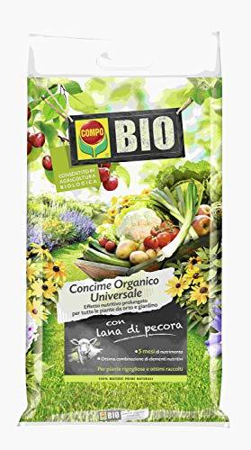 COMPO Concime Universale con Lana di Pecora, Consentito in agricoltura biologica, 4 kg