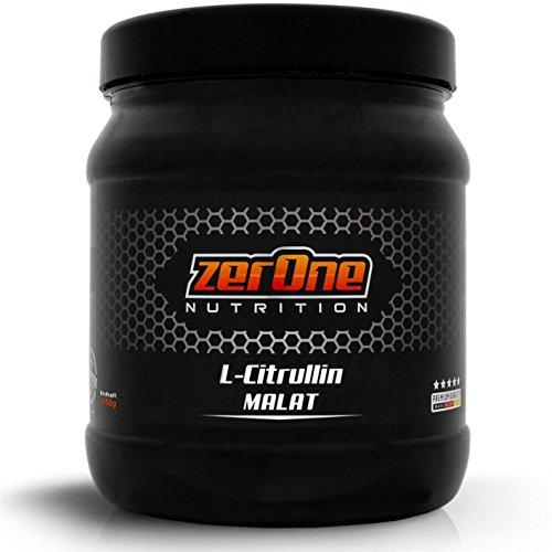ZerOne Nutrition L-Citrullin DL-Malat Hochdosiertes Pulver, Made in Germany Vegan steigert den Pump und die Durchblutung, 250g Reines Pulver