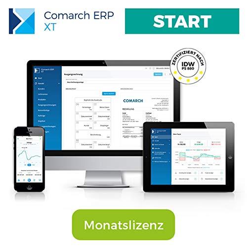 Comarch ERP XT – einfaches Rechnungsprogramm für Kleinunternehmer, Selbständige, Freelancer, Handwerker, Dienstleister – aus der Cloud – viele Funktionen – Paket RECHNUNGEN (Monatslizenz)