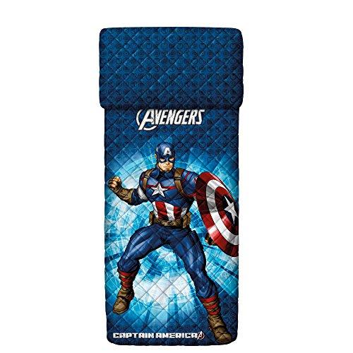 Bassetti 9286355 Captain America Gesteppte Tagesdecke Farbe Einzelbett Blau