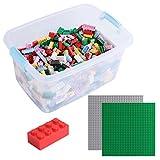 Katara Juego De 1264 Ladrillos Sueltos En Caja Con 2 Placas De Construcción 100% Compatibles Con Lego Classic, Sluban, Papimax, Q-bricks, Multicolor XL (1827) , color/modelo surtido