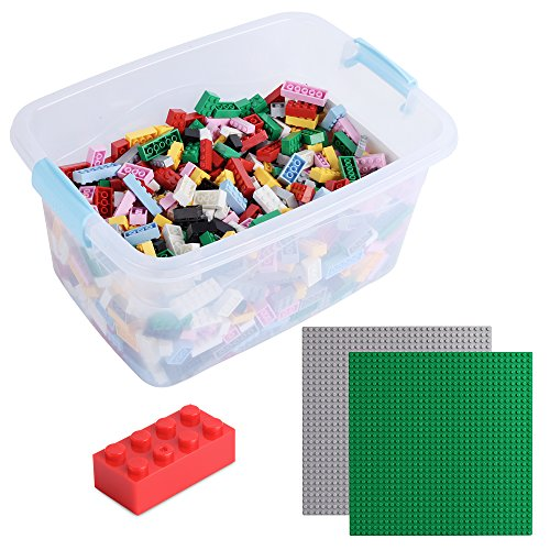 Katara 1827 Set of 1264 Building Bricks Compatible with Lego, Sluban, Papimax, Q-Bricks, 2 Baseplates and Box, Multicolour