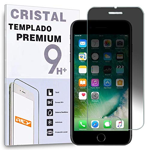 REY Protector de Pantalla Anti ESPÍA para iPhone 8 / iPhone 7 / iPhone SE 2020, Cristal Vidrio Templado Premium