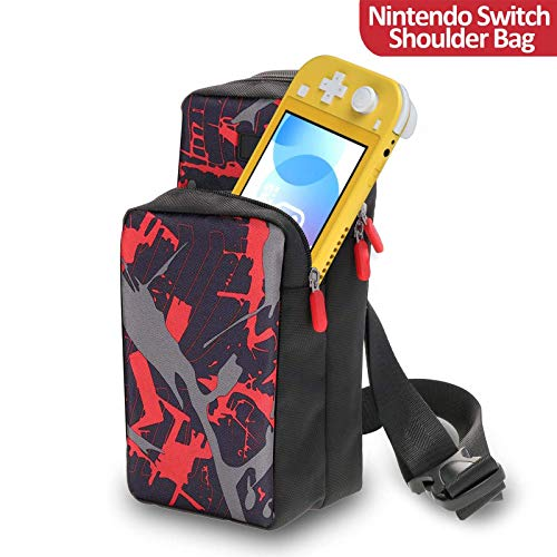Travel Bag for Nintendo Switch AOPUTTRIVER Nintendo Switch Storage Backpack, Protective Storage Sling Backpack Shoulder Bag for Nintendo Switch, Dock, Joy-Con Grip&Switch Accessories, iphone and iPad