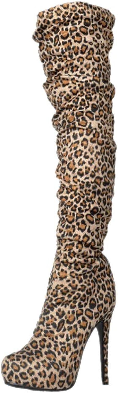 CASSOCK Women's Handmade Thigh-high Boots Platform Sexy Night-Club Booties Party BFCM Fashion Evening Boots
