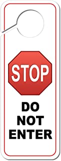 Graphics and More Stop Sign Do Not Enter Plastic Door Knob Hanger Sign