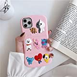 iPhone XR Case,Silicone 3D Cartoon Animal Cover,Kids Girls Boys Cool Slim Fit Cases,Kawaii Soft Gel Rubber BTS Korea Style Case (Pink,iPhone XR)