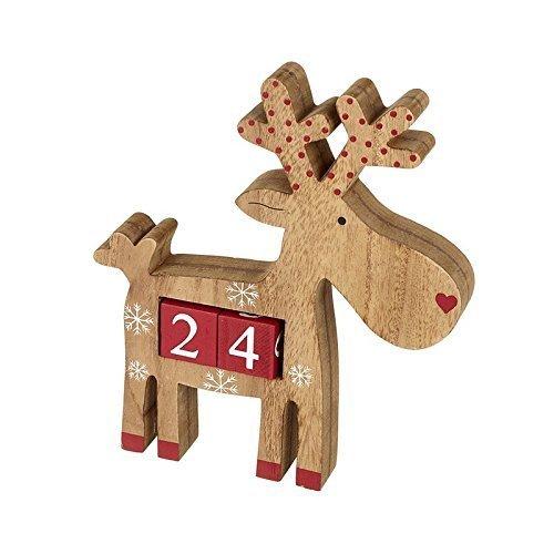 Holz Rentier Weihnachten Adventskalender - Wiederverwendbar