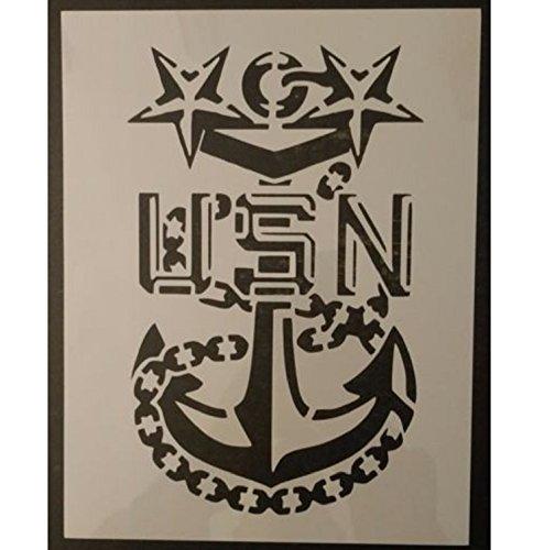 TNS STORE USA US USN Navy Master Chief Anchor 8.5' x 11' Custom Stencil