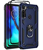 FollmeAir for Moto G Stylus 2020 case, Moto G Pro case, Military Grade Rugged Anti-Scratch Heavy Duty Shockproof 360°Rotating Ring Kickstand Case Cover Fit for Magnetic Car Mount (Navy)