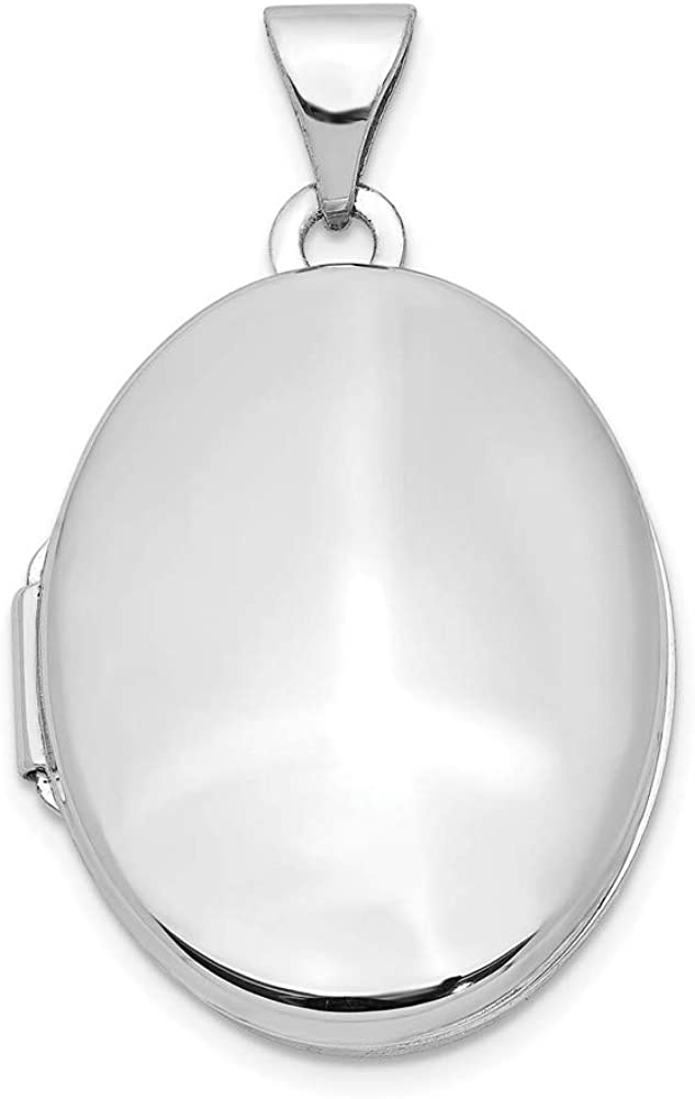 14k White Gold Oval Locket Pendant Charm Fine Jewelry For Women Gifts For Her