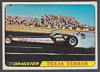 1968 Topps Hot Rods trading card #57 Texas Terror Dragster Pontiac power