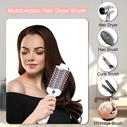 Haarglätter 2 in 1 Haarpflege Glätteisen und Lockenstab mit LCD-Display Temperatur, Glätteisen Locken und Rotierende Einstellbare Temperatur(140-230℃), Dual-Spannung