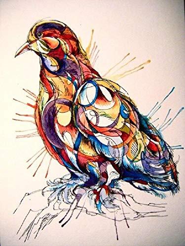 Rompecabezas de 1500 Piezas, Rompecabezas de madera, Juego de Rompecabezas de relajación, Rompecabezas para el Cerebro, Regalo para niños y Adultos (87x57cm) Pintura de aves