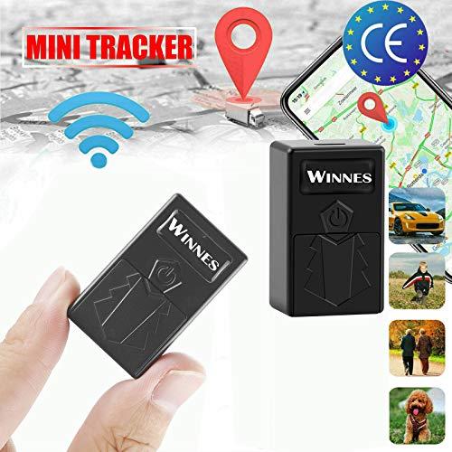 Mini GPS Tracker Tragbare GPS Locator WiFi Positionierung Echtzeit Tracker Anti Verloren Anti Diebstah SOS Tracking Gerät für Auto Fahrzeug Kinder Brieftasche Wichtige Dokumente(mit Free App)