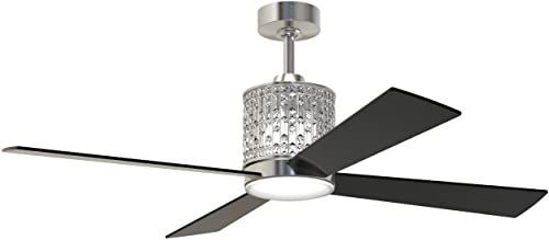 """high quality Craftmade sale MAR52BNK4 wholesale Marissa Brushed Polished Nickel 52"""" Ceiling Fan with Dimmable LED Light and Remote online"""