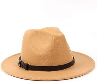 Fedora Cap Fashion Men Women Wool Fedora Hat Dance Party Hat Casual Wild Church Hat Panama Jazz Hat Size 56-58CM Felt hat (Color : Khaki, Size : 56-58)