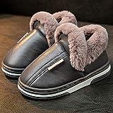 Nwarmsouth Invierno Interior Casa Caliente Slippers,Zapatillas de Felpa de Invierno, Zapatos Gruesos de algodón cálido-Gris_18-19cm,Zapatillas de casa Ant