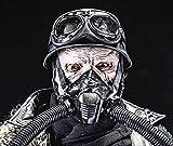 Posterazzi PSTZAB103009M Ugly Burnt face of Futuristic Nazi Soldier Wearing Gas mask Photo Print, 11 x 17, Multi