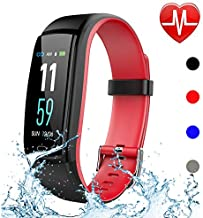 Qiufeng Fitness Tracker,Activity Tracker Smart Watch Health Bracelet Waterproof Wristband with Heart Rate Blood Pressure Pedometer Sleep Monitor Calorie Step Counter for Android and iOS