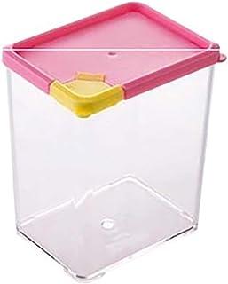 Conteneurs de stockage en plastique Cuisine Demi-Flip Cover Cover Alimentaire Boîte de rangement Caisson Gardez une boîte ...