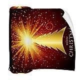 Estuche para lápices con cremallera, organizador de monedas, bolsa de maquillaje para mujeres, adolescentes, niños, árbol de Navidad dorado