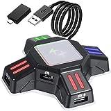 GZW-Shop Convertidor de Teclado y ratón, Adaptador KX de Controlador de Mando de Juego para ratón/Teclado portátil USB 2.0 Compatible con PS4/Xbox One/Nintendo Switch/PS3