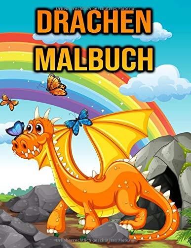 Drachen Malbuch: Für Kinder, Jungen, Mädchen, Kleinkinder | Drachenliebhaber Geschenke | einseitige Malvorlagen - Kinderbuch