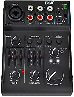 Best 3 Channel Bluetooth Audio Mixer - DJ Sound Controller Interface with USB Soundcard for PC Recording, XLR, 3.5mm Microphone Jack, 18V Power, RCA Input/Output for Professional and Beginners - PAD30MXUBT Review