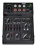 3 Channel Bluetooth Audio Mixer - DJ Sound Controller Interface with USB Soundcard for PC Recording, XLR, 3.5mm Microphone Jack, 18V Power, RCA Input/Output for Professional and Beginners - PAD30MXUBT