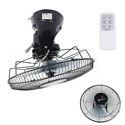 Ventilatore da parete con telecomando, diametro 16 pollici, 3 velocità ventilatore da soffitto