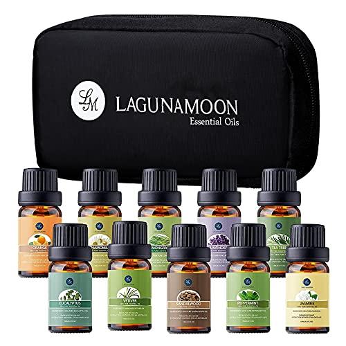 Lagunamoon Aceites Esenciales, Top 10 Set de Viaje de Aceites de Aroma