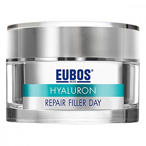 Eubos Hyaluron Repairt Filler Day Spar-Set 2 x 50 ml multi-aktive Tagespflege. Reaktiviert, polstert Falten von innen auf. Hyaluronsäure & Matrikine + Q10 + Vitamin B3