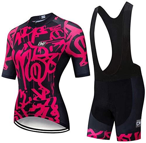 ZSPSHOP Ropa de Ciclo, 2020 Equipo Pro Cycling Jersey 19D Gel de...
