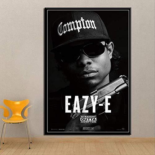 MZCYL Jigsaw Puzzles 1000 Teile Zusammenbau Bild Straight Outta Compton NWA Hip Hop Musik Rap Star Eiswürfel Dr.DRE Eazy-E Kunstseide Für Erwachsene Kinder Spiele Lernspielzeug MA3380