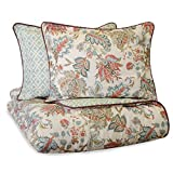 Waverly Brompton Bedding Set with 2 Coordinating Shams, Queen, Mineral