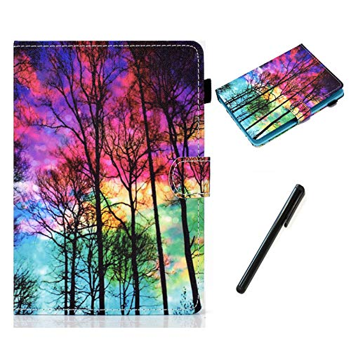 HereMore Universal Case for 10.1 Inch Tablet with Pen, Leather Stand Cover Protective Shell for Fusion5 10.1, iPad 10.2', Samsung Tab A 10.1/S2 9.7', Huawei MediaPad T3 10, Lenovo Tab E10, Forest