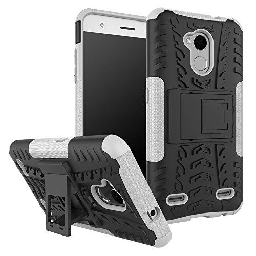 SsHhUu ZTE Blade V6 Plus Hülle, Premium Rugged Stoßdämpfung & Staubabweisend Kompletter Schutz Hybrid-Koffer mit Ständer Telefon Kasten für ZTE Blade V6 Plus (5.0