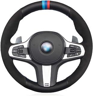 JNXZHQCT Auto schwarz Leder Auto Lenkradbezug.Für BMW M Sport G30 G31 G32 G20 G21 G14 G15 G16 X3 G01 X4 G02 X5 G05