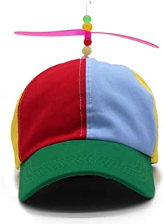 Ss-Lqlhy Outdoor Unisex Baseball Cap Helicopter Rainbow Sunbonnet Sun Hat with Propeller Multicolor S