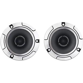 Vetrineinrete/® Casse per auto amplificate alluminio 150 watt 4 ohm coppia 2 altoparlanti Tweeter autoradio speaker stereo macchina 92db 10x10 cm GTTP-14