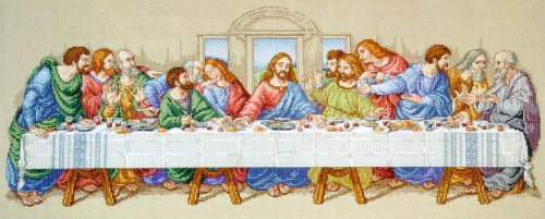 Janlynn Cross Stitch Kit, 10-Inch by 26-1/2-Inch, The Last Supper