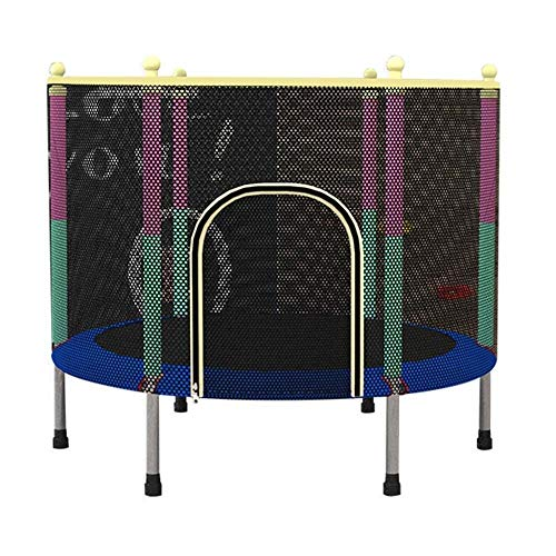 Review LMXQQ Trampoline Trampoline with Safety Guard, Foldable Mini Trampoline for Children Indoors ...
